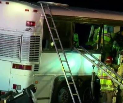 At least 13 dead in southern California tour bus crash