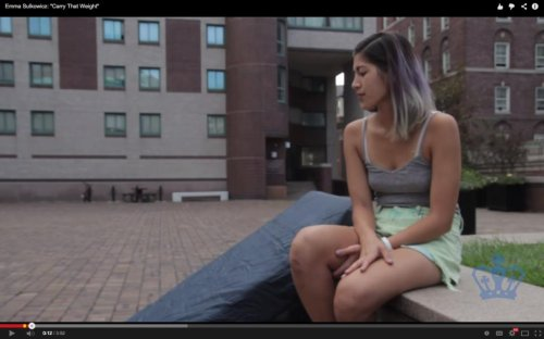 Student lugs mattress around campus to protest alleged rapist not being expelled