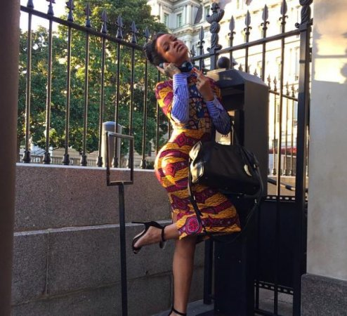 Rihanna visits the White House as Olivia Pope