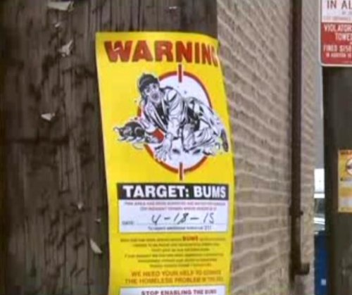 'Offensive' Chicago posters compare homeless to rats
