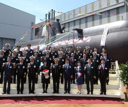 South Korea launches guided-missile submarine