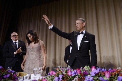 President pokes fun at his own tenure, gives nod to Clinton at correspondents' dinner