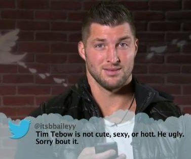 Tim Tebow called 'ugly' in college edition of Jimmy Kimmel's 'mean tweets'