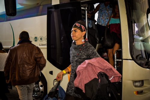 Central American migrants arrive in Tijuana