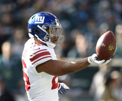 New York Giants' Saquon Barkley has high ankle sprain, to undergo MRI