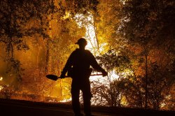 Firefighting trains with water cannons deployed to battle Western wildfires