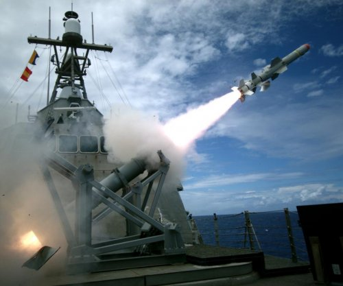 Navy conducts first LCS Harpoon missile test