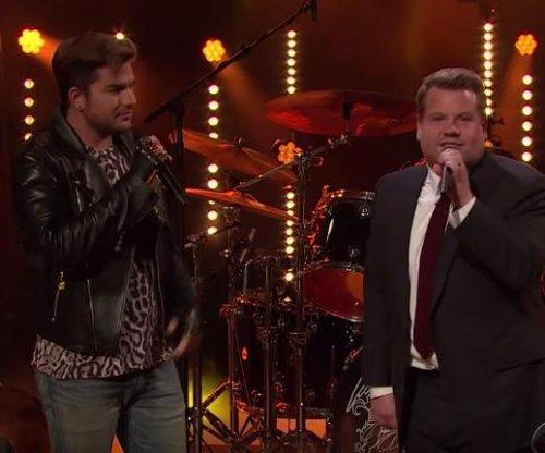 James Corden battles Adam Lambert in Queen sing-off