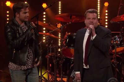 James Corden battles Adam Lambert in Queen sing-off