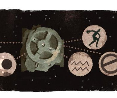 Google marks the discovery of the Antikythera Mechanism with new Doodle