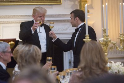 Trump holds first state dinner with France's Macron