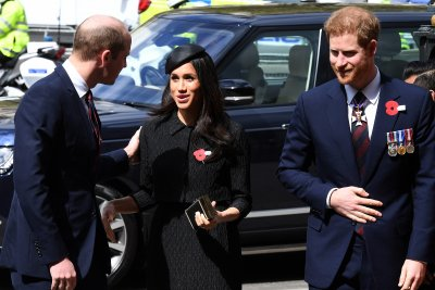 Prince Harry, Meghan Markle mark Anzac Day in London