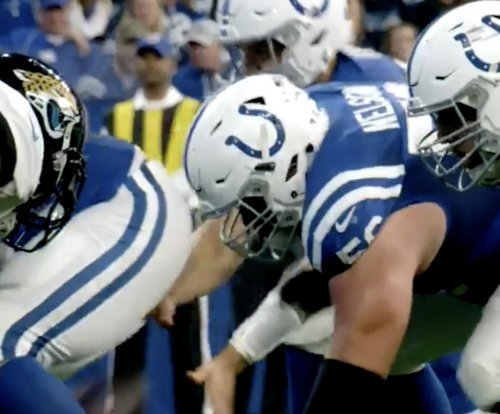 Colts rookie Quenton Nelson performs screaming pancake block