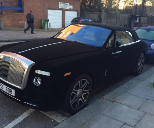 Velvet-draped Rolls-Royce spotted in London