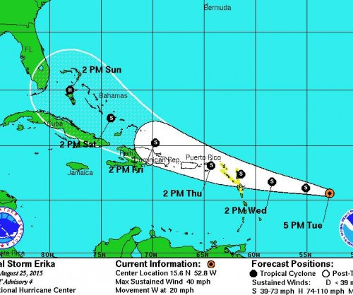 Tropical Storm Erika sets sights on South Florida
