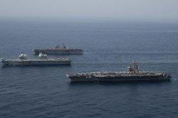 USS Ronald Reagan, carrier strike group conduct Arabian Sea exercises