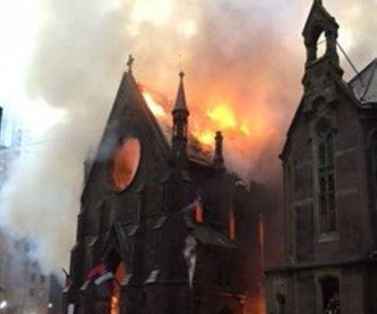 Fire destroys historic Serbian Orthodox Church in Manhattan