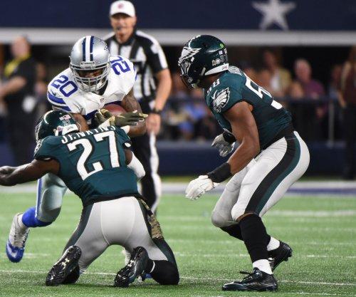 Philadelphia Eagles LB Jordan Hicks involved in individual drills