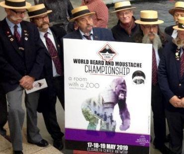 World beard and mustache competition begins in Antwerp, Belgium