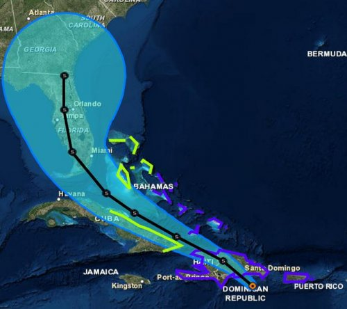 Florida governor declares state of emergency as Tropical Storm Erika lashes Hispaniola