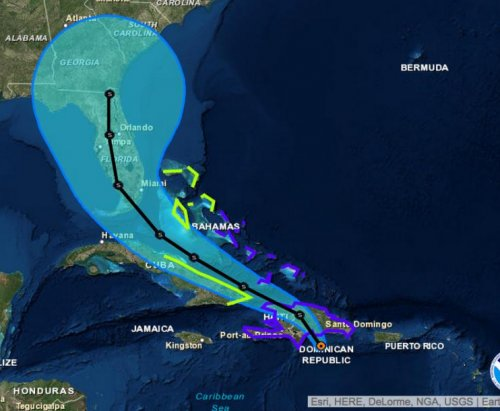 Florida governor declares state of emergency as Tropical Storm Erika's torrential rains advance