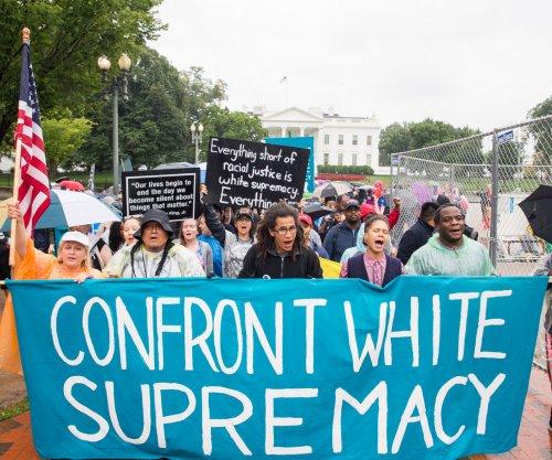 Anti-white supremacy marchers from Charlottesville arrive in Washington