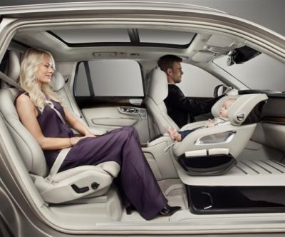 Volvo unveils new child seat concept
