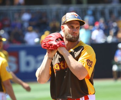 Bryce Harper unveils hats for cancer research