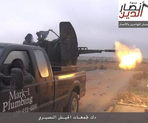 Texas plumber's truck shows up in Syria with guns mounted on it
