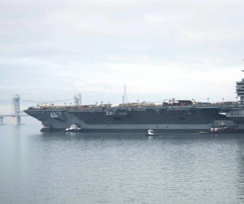 U.S. Navy expecting USS Gerald R. Ford delivery in April