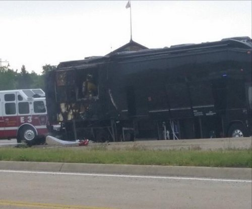Lady Antebellum's tour bus goes up in flames