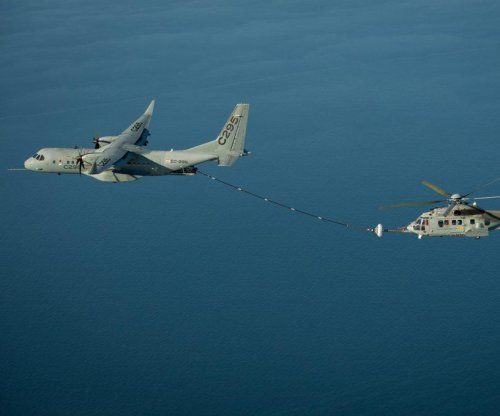 Airbus demos aerial refueling with H225M helicopter and C295W