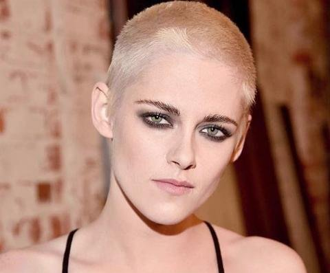 Kristen Stewart goes platinum blonde with new buzzcut
