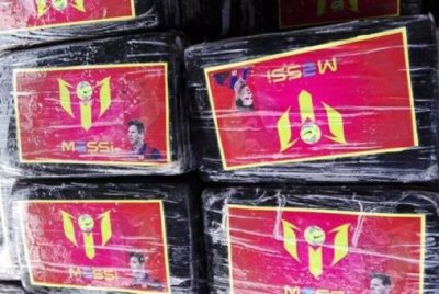 Peru seizes 1.5 tons of cocaine bearing Lionel Messi's likeness