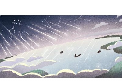 Google pays homage to the Geminid Meteor Shower with new Doodle