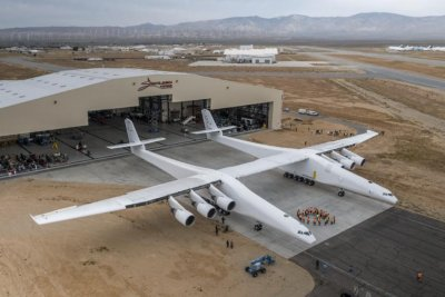 World's biggest airplane takes off, lands for first time
