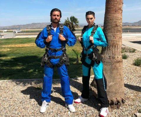 Kendall Jenner goes skydiving with Scott Disick