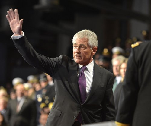 Secretary of Defense Chuck Hagel honored in farewell ceremony
