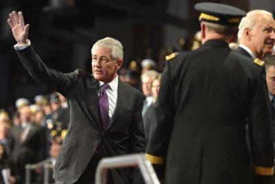 Secretary of Defense Chuck Hagel honored in farewell ceremony