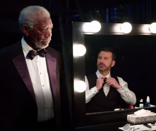 Jimmy Kimmel receives pep talk from Morgan Freeman in new Oscars ad