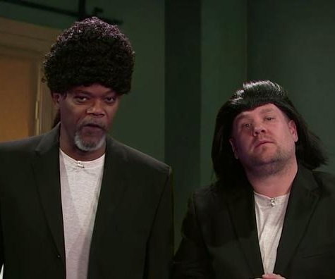 Samuel L. Jackson recreates film career on 'Late Late Show'