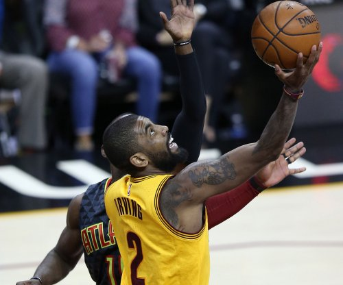 Kyrie Irving praises Cleveland Cavaliers star LeBron James during Boston Celtics introduction