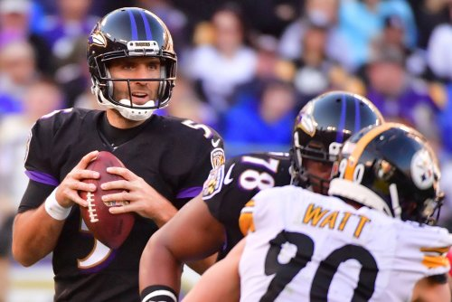 Ravens QB Flacco (hip) misses practice