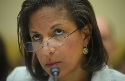 U.N. Ambassador Rice treks to Capitol Hill