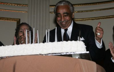 Rangel forgets ethics woes for a while