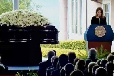 Nancy Reagan funeral: Children's memories, 35-year-old letter from Ronald highlight emotional ceremony