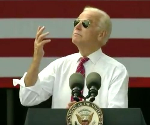 Biden has 'Joe Cool' moment with trademark sunglasses at Florida rally
