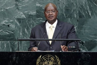 Uganda leader removes age limit for presidential candidates