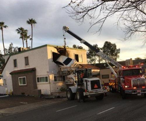 California car crashes into 2nd floor dental office