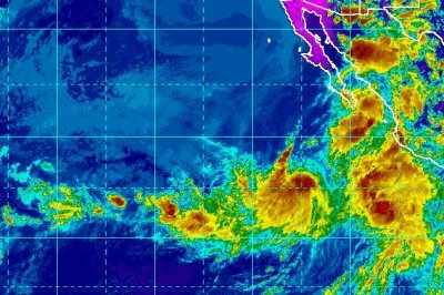 Tropical Storm Ivo strengthening as it tracks over the eastern Pacific